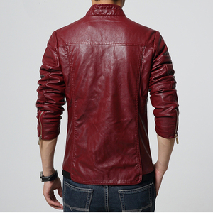 Image 2 - HCXY 2019 Mens Motorcycle Leather Jackets Men Autumn PU Leather Clothing Men Leather Jacket Male Business Upscale casual Coats