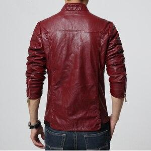 Image 2 - HCXY chaquetas de cuero para hombre, ropa de cuero PU para otoño, de negocios, informales, 2019