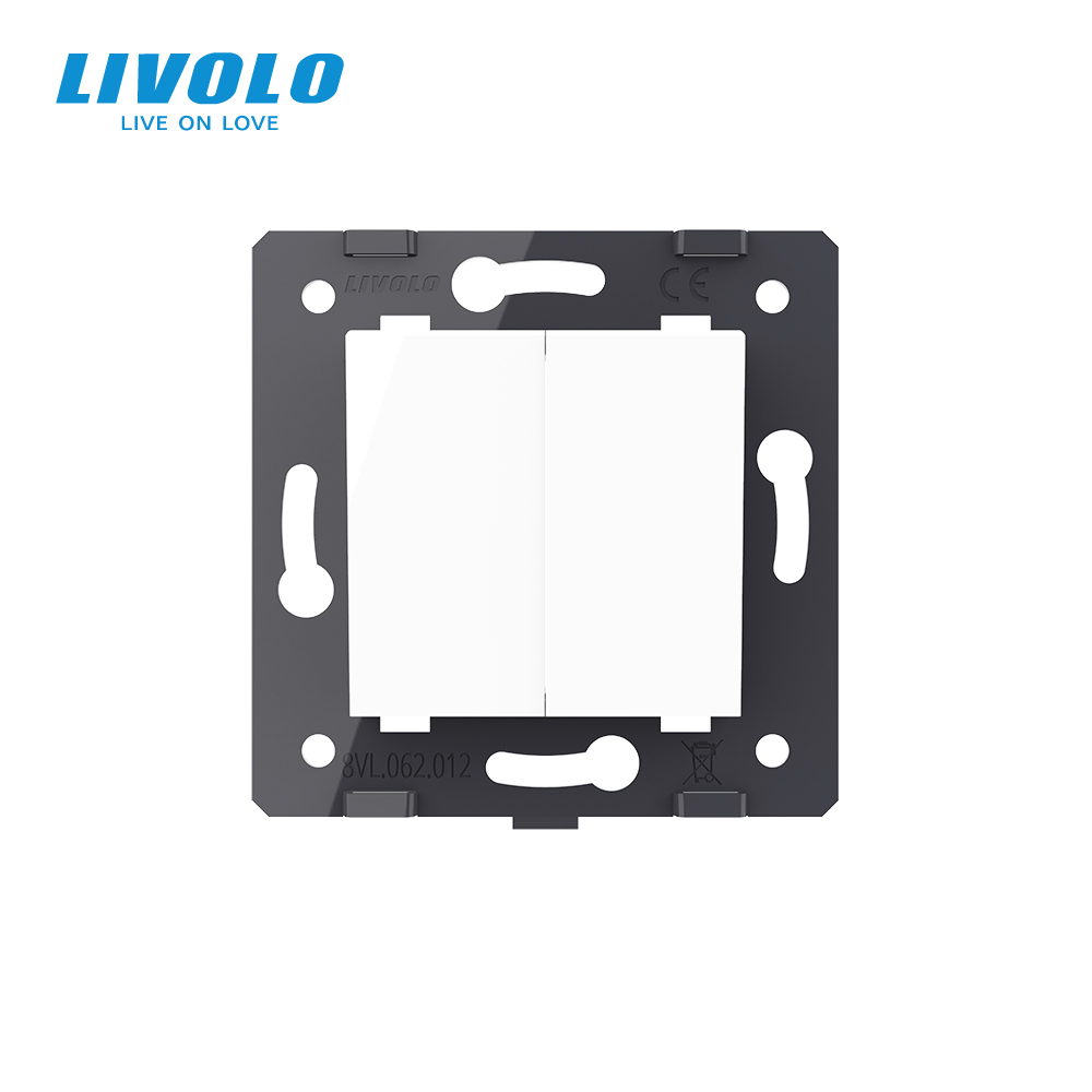 lowest price Livolo Luxury 7colors Crystal Glass Switch Panel 364mm 80mm EU standardQuintuple Glass Panel For Wall Socket C7-5SR-11