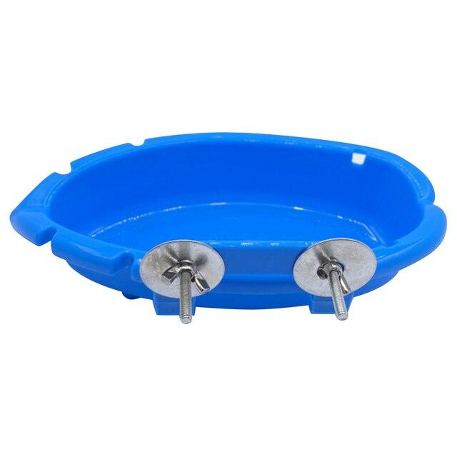 Bird Baths Tub Bowl Basin Parrot Cage Hanging Bathing Box Bird Birdbath Tub Parrot Bath Supplies Bath Room Feeder 2