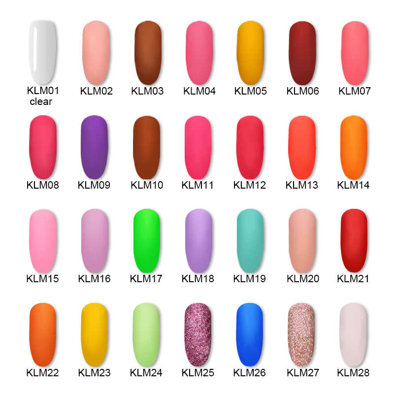 28 kleuren 4in1Dipping Poeder Acryl Nail Kit/Set Extension Carving Acryl Polymeer Vloeibare Pigment Chrome Dip Glitter Nail Art