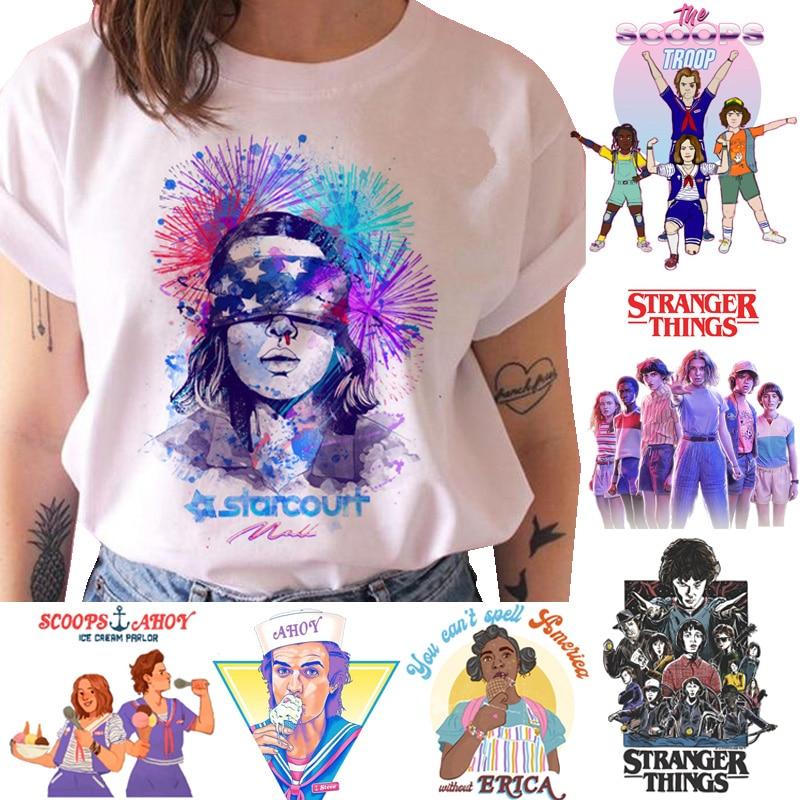 Stranger Things T Shirt Women Season 3 Eleven Tshirt Graphic Clothes Female Upside Down T-shirt Femme Grunge Tee Shirts Funny