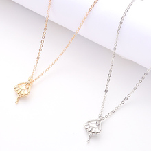 Simple Small Fist Pendant Necklace Female Fashion Alloy Jewelry Men And Women Irregular Pattern