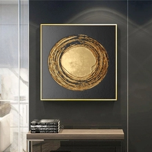 Gold Nordic Decoration Picture Wall Art Canvas Abstract Painting Modern Home Decor Posters and Prints Wall Pictures Living Room