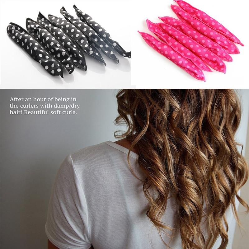 10PC Magic Sponge Pillow Soft Hair Roller Flexible Foam&Sponge Hair Curlers Rollers DIY Salon Hair Care Styling Tools