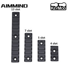 4/5/7/13 Slots 21mm Rifle Scope Mount Keymod Weaver Picatinny Rail Military Aluminum Tactical Mount Base Hunting Gun Accessories tactical 4 5 7 9 13 slots 21mm keymod picatinny rail keymod handguard ar15 rifle scope mount base rail hunting gun accessories