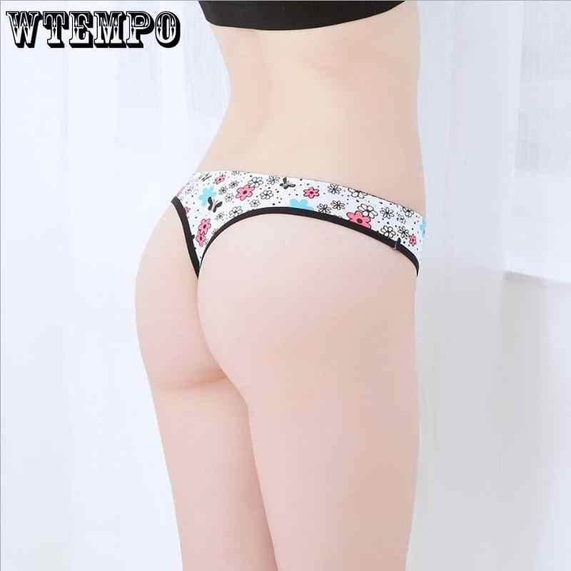 : WTEMPO 6 шт./лот Женщины Ультра-тонкое нижнее белье стринги Для женщин трусики нижнее белье, сексуальные женские трусики для девочек