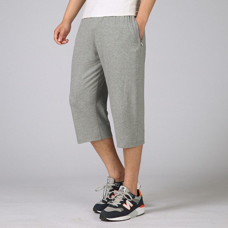 Middle-aged Men'S Wear Elastic Waist Capri Pants Summer Pure Cotton Daddy Clothes Beach Shorts Men'S Wear Capris Enterprise-esta