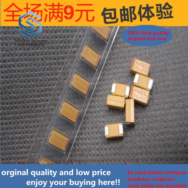 20ppcs 100% Orginal New Chip Tantalum Capacitor TAJC685M016RNJ 6.8UF 16V 6032 Type C Bile Capacitor