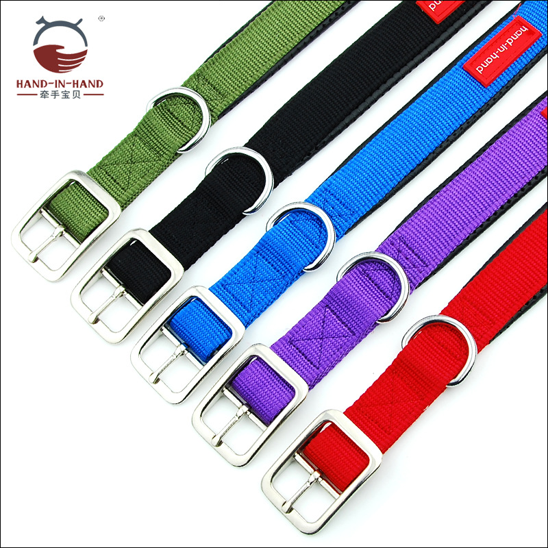 Hand-in-hand Pet Supplies Pet Collar Large Dog Collar Collar Collar Dog Supplies Webbing Nylon Neck Band