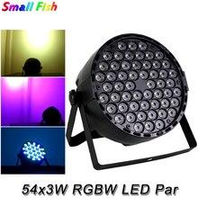 4 adet/grup LED düz Par ışık RGBW 54X3W disko yıkama ışık ekipmanları DMX 512 ses LED Uplights sahne DJ parti KTV etkisi aydınlatma