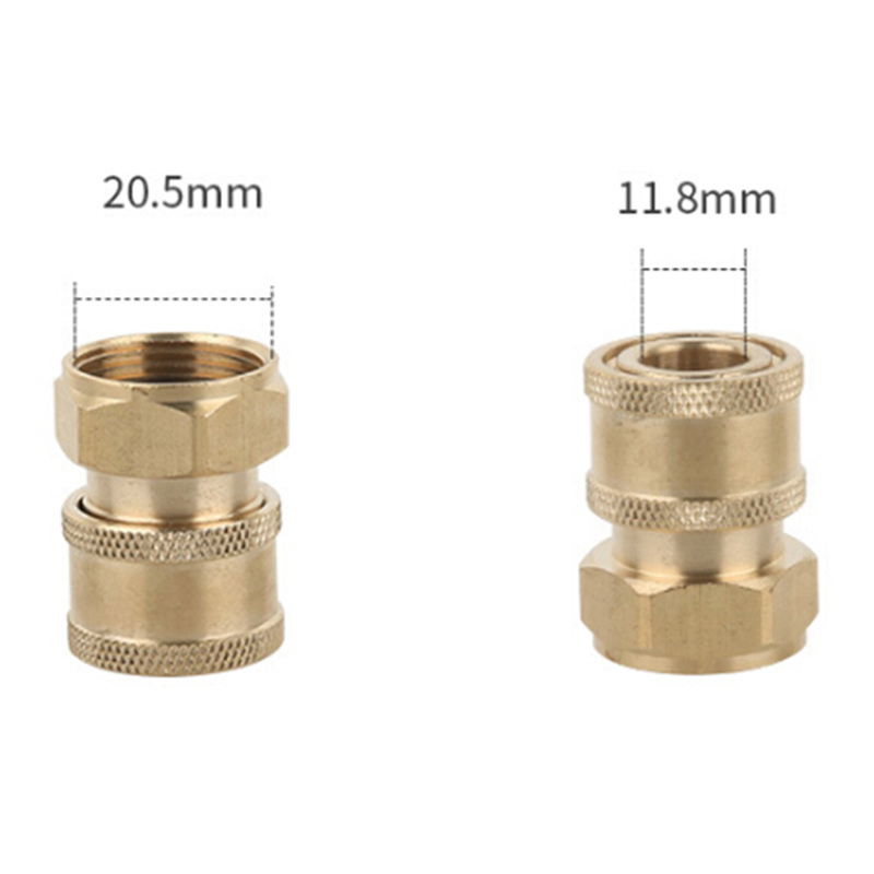 Quick-Coupler Adapter Pressure-Washer Stainless-Steel Clean-Washing Brass Strong-Connector