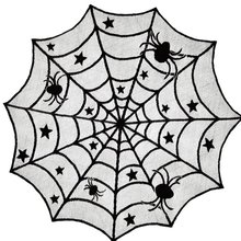 Halloween Decorations Decoration Spider Web Tablecloths Lace Round