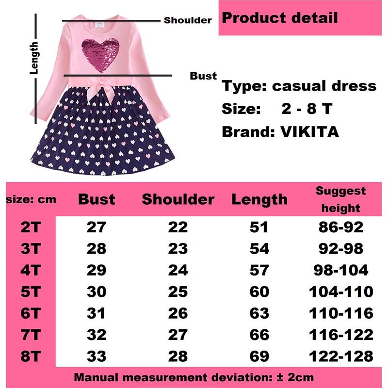 Hac8dafe5bb1b44ffa6aae2db8e715177t VIKITA Girls Cotton Dress Long Sleeve Children Patchwork Vestidos Kid Dresses for Girls Clothes Toddlers Cartoon Princess Dress