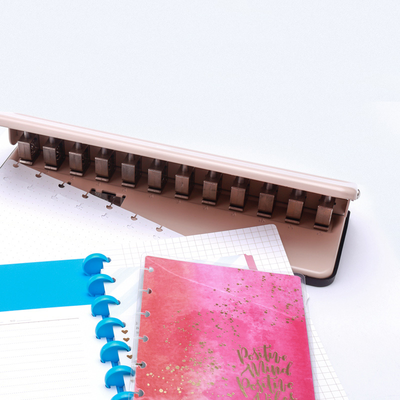Image 4 - T Mushroom Hole Punch DIY Loose Leaf A4 A5 B5 Paper Cutter Adjustable 12 Holes Puncher School Office Binding Stationery-in Hole Punch from Office & School Supplies