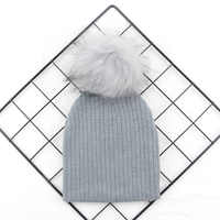 Sunlikeyou Newborn Baby Hat Toddler Warm Winter Hats Boys Caps Knitted Soft Infant Pom pom Kids Beanie Bonnet Baby Girl Hats