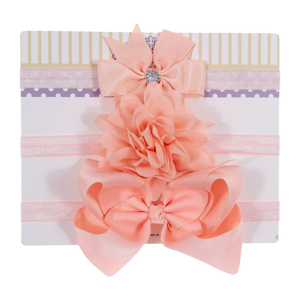 3Pcs Baby Elastic Flower Headband Headbands Girls Bebe Bowknot Headdress Toddler Infants Hair Accessories Photography Props