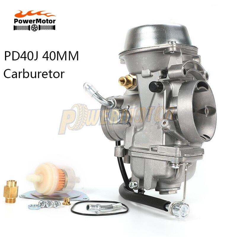 40 мм PD40J 4 тактный мотоцикла карбюратор вакуумный карбюратор чехол четырёхкамерный карбюратор для квадроциклов для шифратор POLARIS 500 4X4 SPORTSMAN ...