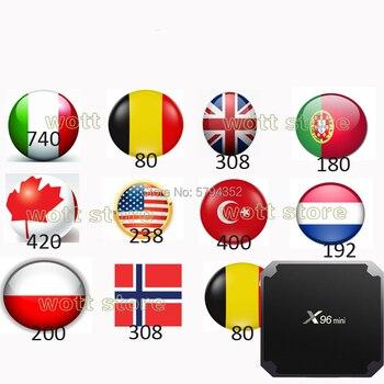 IPTV Android Tv Box FULL HD IPTV Europe Italain Polish UK Arabic Iptv Code Channel No App Include
