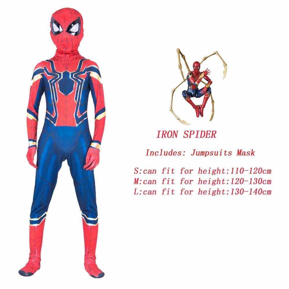 Örümcek Superman demir adam Cosplay kostüm Boys için karnaval cadılar bayramı kostüm çocuklar için Star Wars Deadpool Thor karınca adam panter
