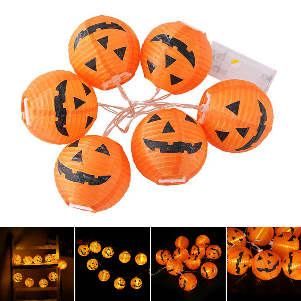 Economical Halloween LED String Lights Pumpkin Shape Battery Powered Home Decoration Lamps Ds99