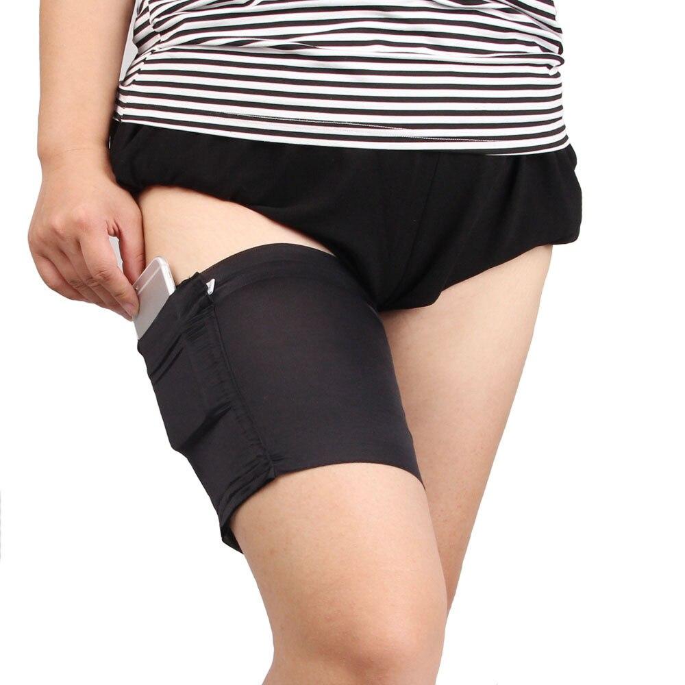 Модные женские гетры с карманами, эластичные антинатирающие сексуальные повязки на бедра, нескользящие носки, подвязки, гетры