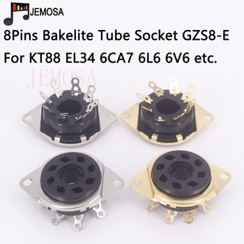 1PC Bakelite 8Pins Tube Socket GZS8-E Electron Tube Socket KT88 6SN7 6550 7199 EL34 6N8P Vacuum Tube DIY HIFI Audio Amplifier image