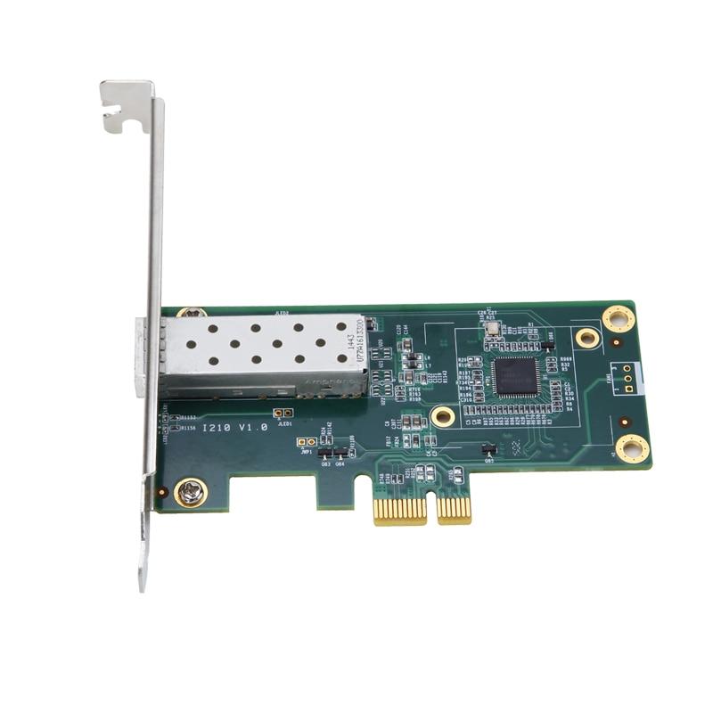 Intel I210 Chipset PCIe Gigabit 1000M Single SFP Fiber Network Lan Card 1 Port Sfp Adapter Pci-e