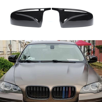 Painted Glossy Black Mirror Cover M Look Replacement for BMW E70 X5 2007-2013 E71 X6 2008-2013