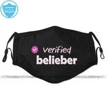 Justin Bieber Mund Gesicht Maske Überprüft Belieber Gesichts Maske Coole Mode mit 2 Filter für Erwachsene