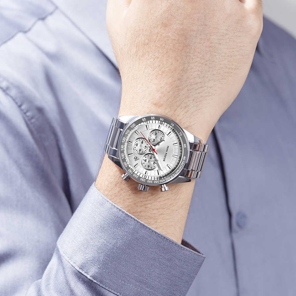 MINIFOCUS montre-bracelet hommes Top marque de luxe célèbre homme horloge Quartz montre-bracelet Quartz-montre Relogio Masculino MF0187G. 02