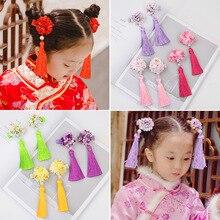 HayStarWay 2019New Design Hair Accessories Chinese style Tassels Retro children princess Hairpin Girl hair wear