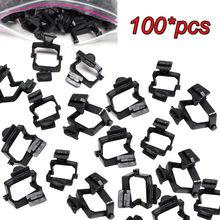 100Pcsทิ้งพลาสติกArticulatorทันตกรรมLab Ceramco Articulatorสีดำ