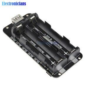 Image 3 - Dual 18650 Lithium Batterie Schild V8 3V1A 5V 3A Micro USB Power Bank Batterie Lade Modul Für Raspberry Pi wifi ESP8266 ESP32