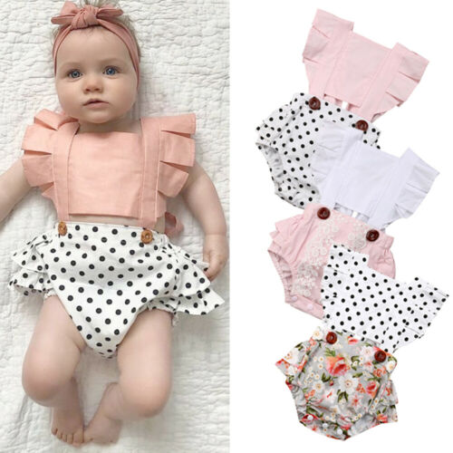 Newborn Baby Girls Backless Romper Jumpsuit Bodysuit Outfits Clothes Summer