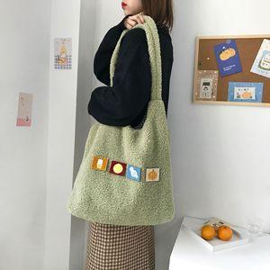 Image 4 - Bolsa Feminina קיבולת גדולה קניות תיק מתקפל לשימוש חוזר תיק כתף להסרה אפליקצית יד נשים של Tote מקרית
