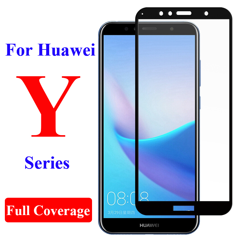 protective <font><b>glass</b></font> for <font><b>huawei</b></font> y6 y5 y9 <font><b>prime</b></font> pro 2019 y5 lite y6 <font><b>prime</b></font> <font><b>2018</b></font> screen protector <font><b>tempered</b></font> film on <font><b>y</b></font> 5 <font><b>6</b></font> 9 full cover image
