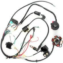 Arnês de fio do quadrilátero apropriado para 50cc 70cc 90cc 110cc 125cc início elétrico chinês magneto volante do estator quad chicote de fios