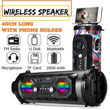 Colorful LED Light Portable bluetooth Speaker Powerful Wireless Outdoor Speaker Camping Party Subwoofer Surround Music Boombox bluetooth speaker nillkin 2 in 1 phone charger power bank music box speaker portable multi color led light lamp outdoor bedroom