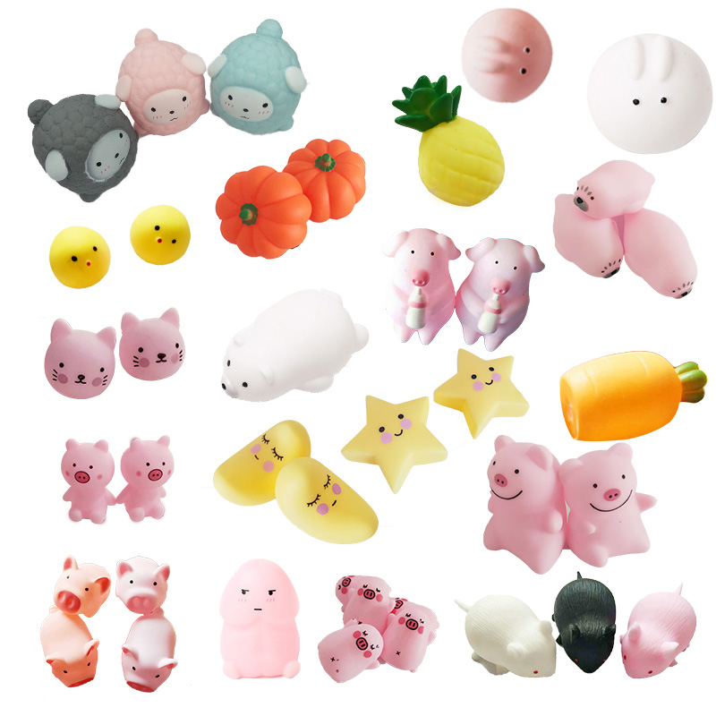 LANDZO Hot Funny Mochi Squishy Toys With Sound,Animal Fruit Stress Relief Toys,Kids Squeeze Toys Adult Toys Child Birthday Gift