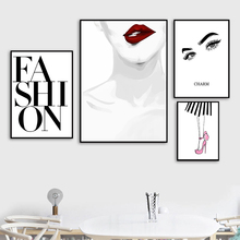 Pop Art Painting Canvas Modern Wall Pictures Print Fashion Poster Black And White Quote Unframed