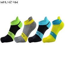 Whlyz yw 5 парт/лот хлопковые носки с пальцами мужские сетчатые
