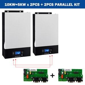 Image 3 - POWLAND Bluetooth 10Kw параллельно инвертор 220V 48v солнечный инвертор MPPT регулятором солнечного Зарядное устройство неэлектрифицирован инвертор синусоидального колебания 80A Батарея Зарядное устройство