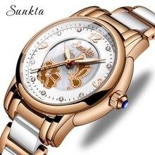 купить SUNKTA2019 New Listing Rose Gold Watch Women Quartz Watches Ladies Top Brand Luxury Female Watch Girl Clock Relogio Feminino+Box по цене 521.05 рублей