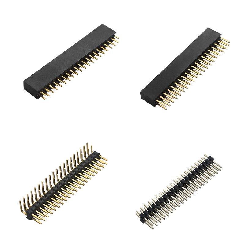 4 In 1 Raspberry Pi GPIO Header Kit 2x20 Pins Male To Male & Male To Female GPIO Pins For Raspberry Pi 4 Model B / 3B+ / Zero
