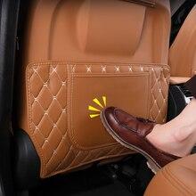 Für BMW X5 X6 G05 G06 2020 2021 Auto Sitz Anti Kick Pads PU Leder Anti Kick Matte hinten Reihe Sitze Abdeckung Zurück Schutz Matte 2pc