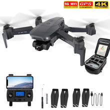 Dwuosiowy Gimbal RC Drone 4K WIFI HD podwójny aparat fotograficzny drony optyczne pozycjonowanie przepływu GPS helikopter składany samolot prezent cheap Toanel Z tworzywa sztucznego Metal CN (pochodzenie) SG907 RC Drone Ready-to-go About 12 mins HELICOPTER Built-in 3 7V 500mAh