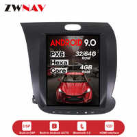 10.4 Inch Verticl screen Tesla style Android 9.0 Car dvd multimedia Player For KIA CERATO K3 FORTE 2013 2014 2015 2016 2017 car GPS navigation audio stereo radio tape recorder head unit