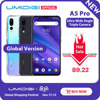 Globale Versione UMIDIGI A5 PRO Android 9.0 Octa Core 6.3 'FHD + Waterdrop 16MP Triple Macchina Fotografica 4150mAh 4GB di RAM 4G Celular Smartphone