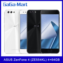Asus zenfone 4 (ze554kl) versão global, smartphone snapdragon 630 octa core, celular com 4gb + 64gb, tela de 5.5 polegadas, câmeras de 12mp + 8mp, nfc, bateria de 3300mah impressão digital impressão digital